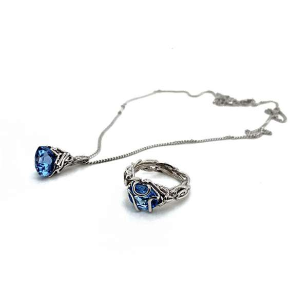 blue topaz ring and pendant