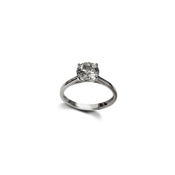 Diamond four claw solitaire engagement ring